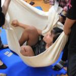 子宮体験にどの子も安心感と安らぎを感じました